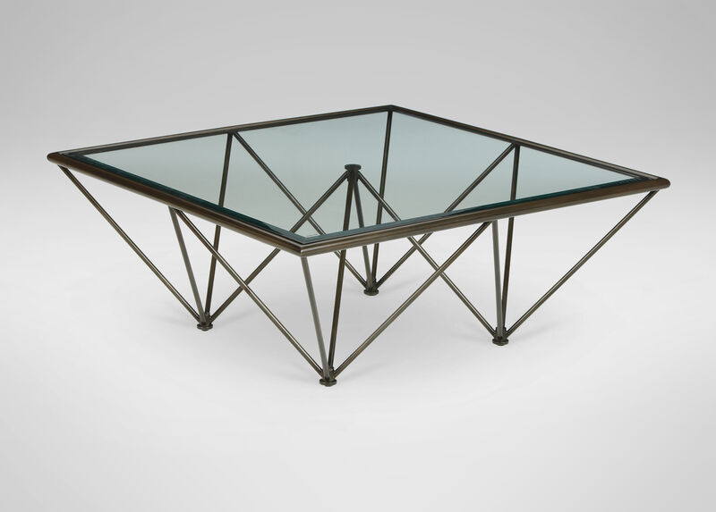 Kestral Square Coffee Table, Vintage Steel at Ethan Allen in Ormond Beach, FL | Tuggl