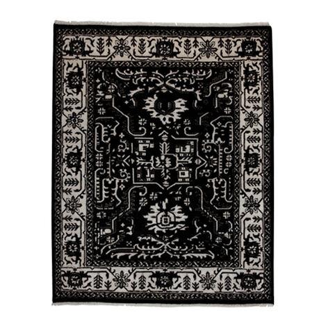 Heriz Deconstructed Rug, Black/Ivory ,  , large