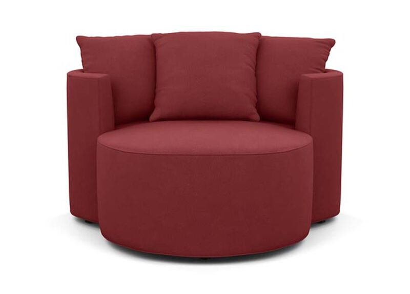Mickey Mouse Club Chair and a Half , Lucky Denim Red (D1200) , large_gray