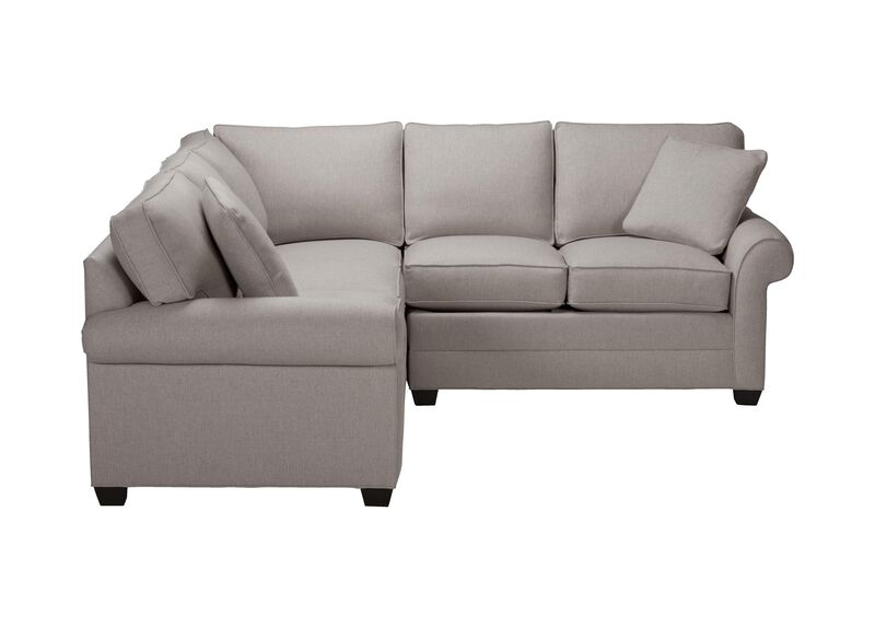 Bennett Three Piece Sectional, Quick Ship , Hailey Slate (Q1054), solid texture , large_gray