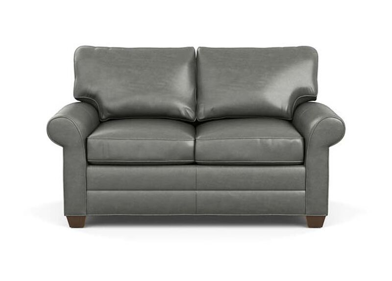 Bennett Roll-Arm Leather Sofa, Quick Ship ,  , large_gray