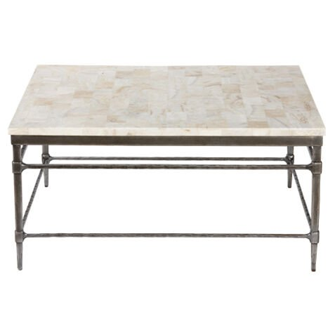 Vida Square Stone Top Coffee Table , , Large