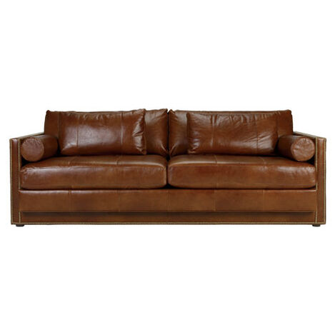 Shop sofas and loveseats leather couch ethan allen for Front room sofas