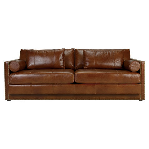 abington leather sofa large - Tan Leather Sofa