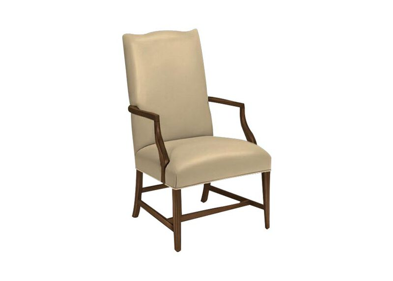 Martha Washington Leather Chair ,  , large_gray