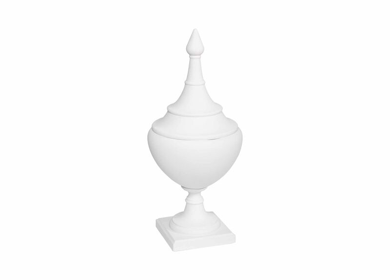Small Bisque Finial Urn ,  , large_gray