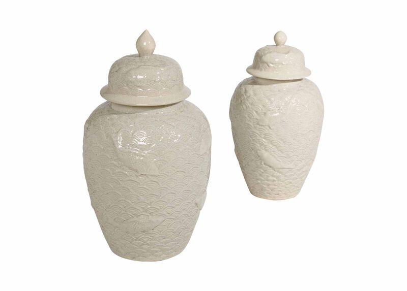Koi Fish Temple Jars ,  , large_gray