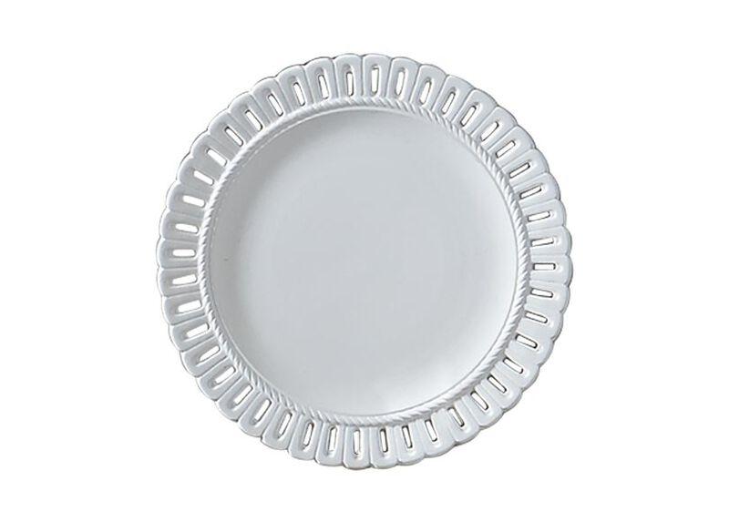 White Pierced Edge Wall Plate ,  , large_gray