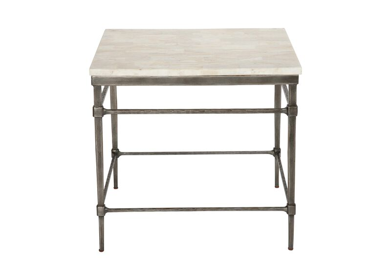 Vida Stone-Top End Table ,  , large_gray