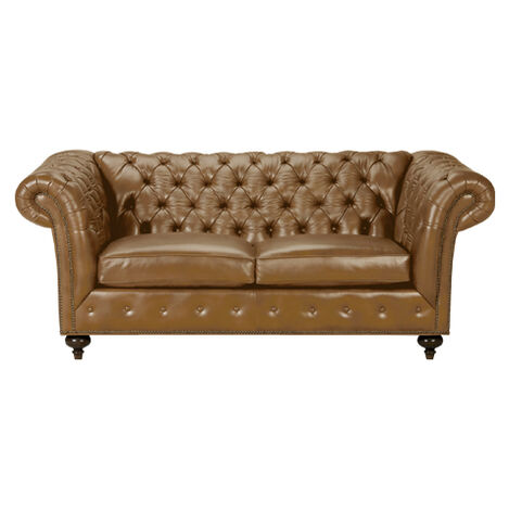 "Mansfield 77"" Leather Sofa, Quick Ship, Omni Camel ,  , large"