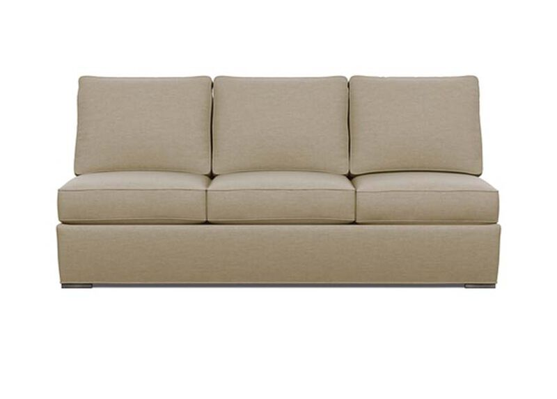 Meeting Place Armless Sofa , Zest Linen (D1031), strie texture , large_gray