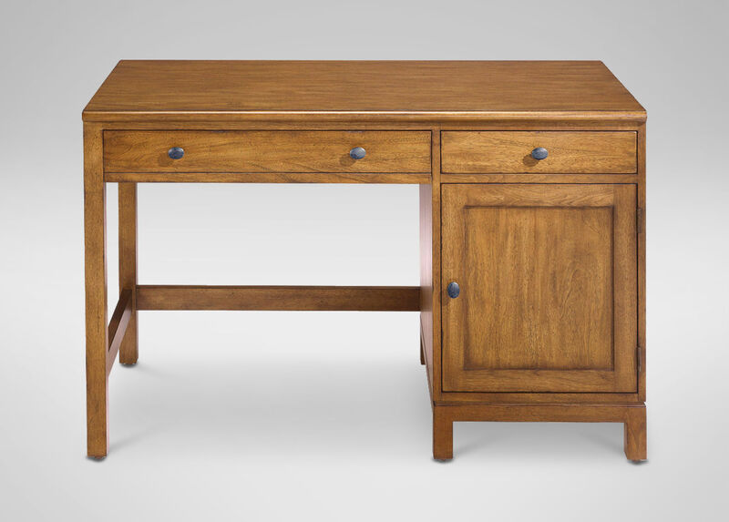 Hawke Single Pedestal Desk at Ethan Allen in Ormond Beach, FL | Tuggl