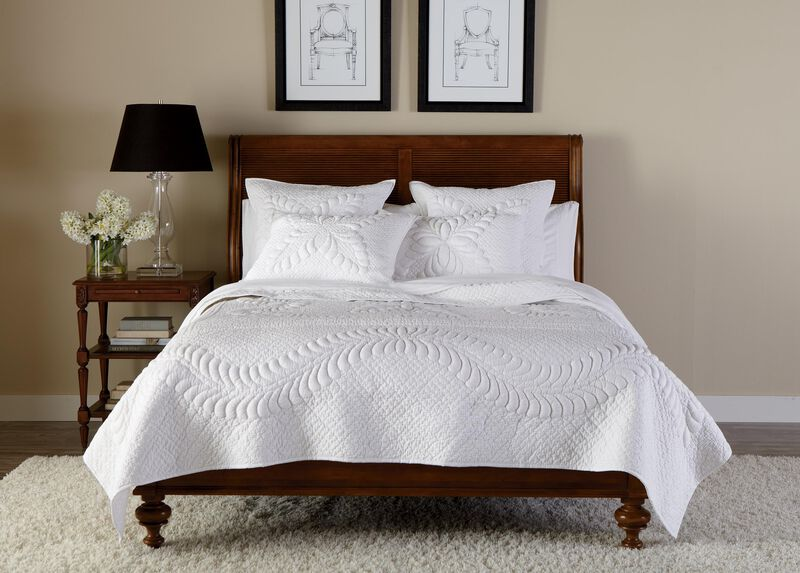 White Trapunto Quilt and Shams at Ethan Allen in Ormond Beach, FL | Tuggl