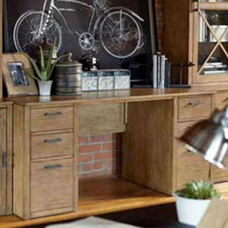 "Duke 60"" Double Pedestal Desk ,  , hover_image"