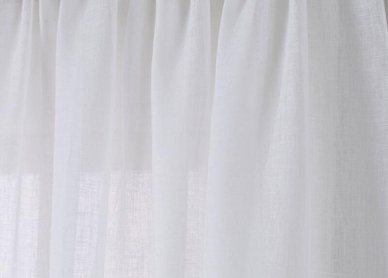 White Linen Sheer Fabric ,  , large_gray