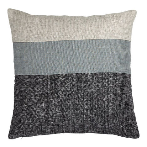 Slate/Multi Color Block Pillow ,  , large