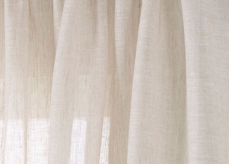 Ivory Linen Sheer Fabric ,  , large_gray