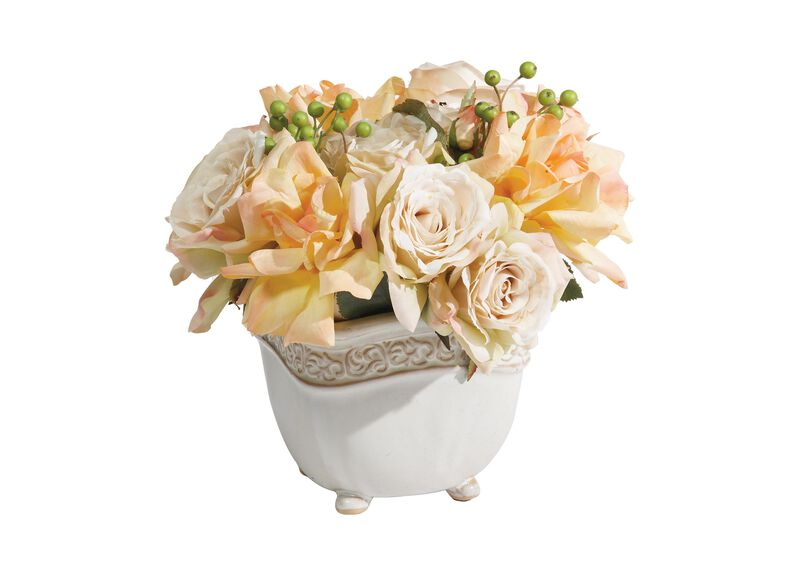 Cream Roses with Berries at Ethan Allen in Ormond Beach, FL | Tuggl