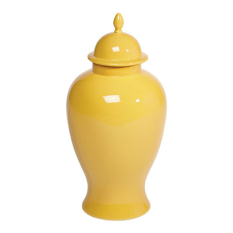 Large Mustard Temple Jar ,  , large