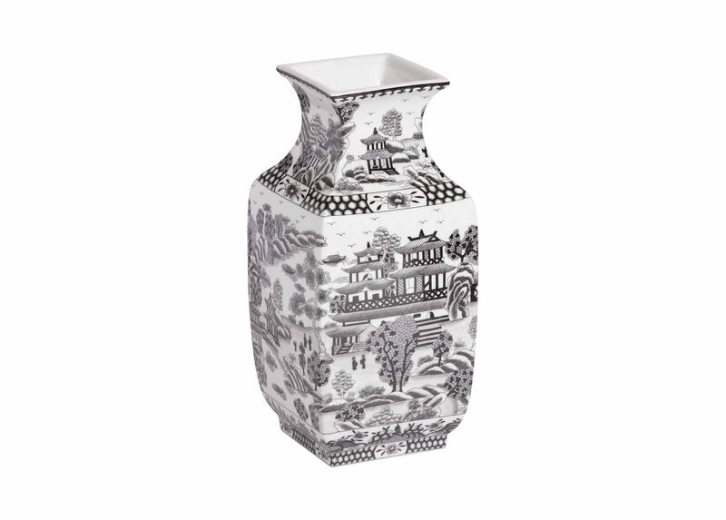 Black and White Square Vase ,  , large_gray