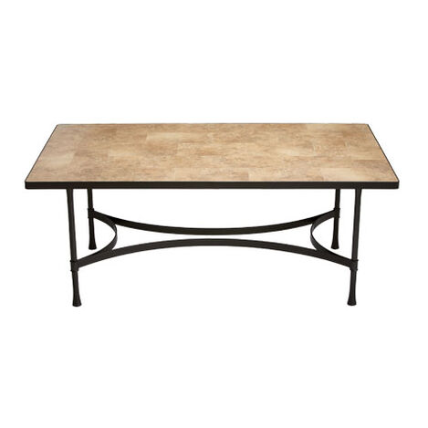 Biscayne Rectangular Dining Table with Light Porcelain Top ,  , large