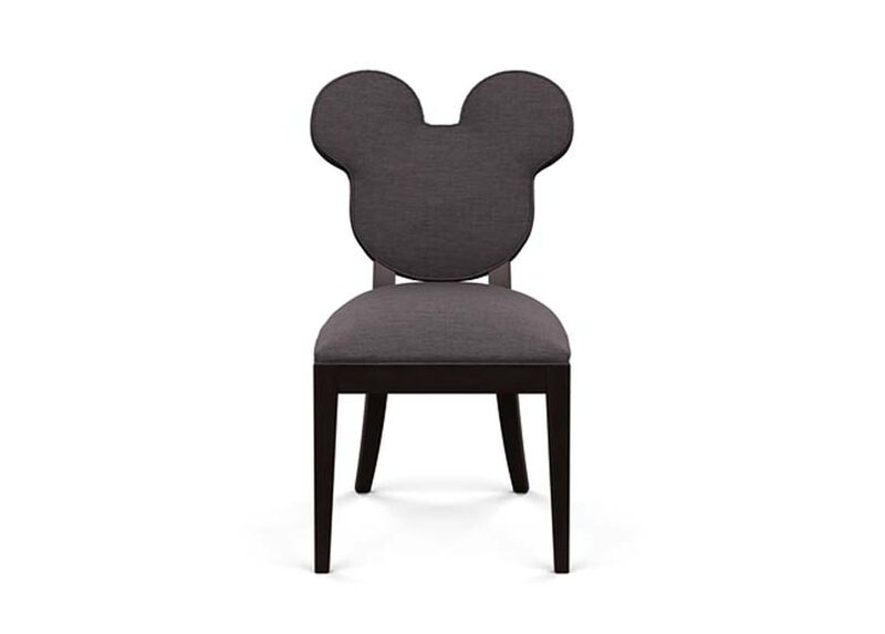 Mickey Mouse Everywhere Chair , Zest Charcoal (D1054), strie texture , large_gray