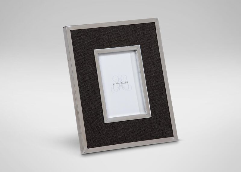 """Charcoal Wool 5"""" x 7"""" Photo Frame at Ethan Allen in Ormond Beach, FL 