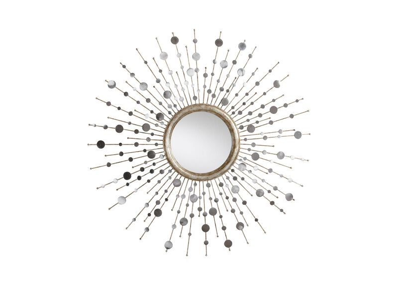 Silver Toned Soleil Mirror at Ethan Allen in Ormond Beach, FL | Tuggl