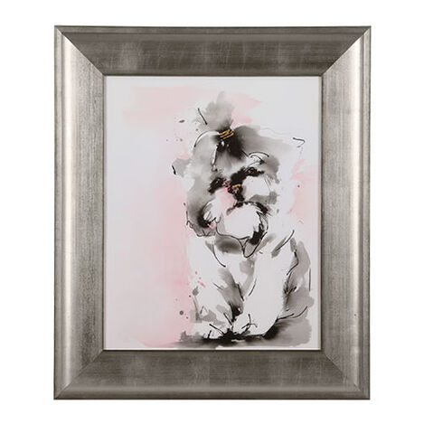 Glamour Dog Sketch IV, Silver ,  , large