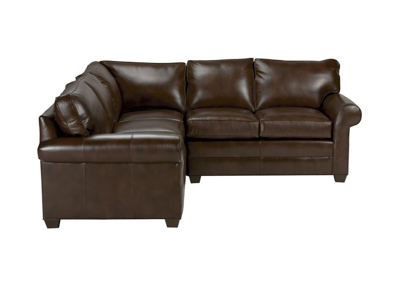 Bennett Three Piece Leather Sectional, Quick Ship ,  , large_gray