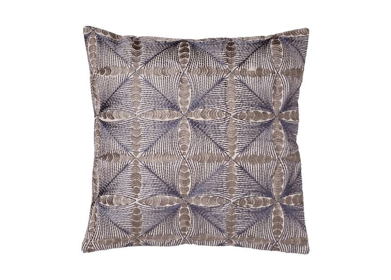 Embroidered Diamond Pillow ,  , large_gray