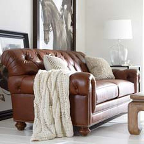 Shop Sofas And Loveseats Leather Couch Ethan Allen. Leather Sofa Living Room   Interior Design