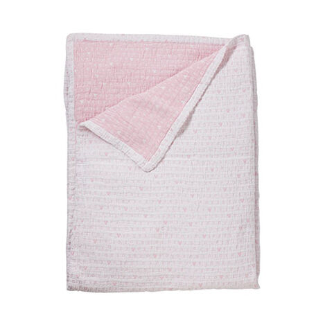 Hugs and Kisses Matelassé Stroller Blanket, Petal ,  , large
