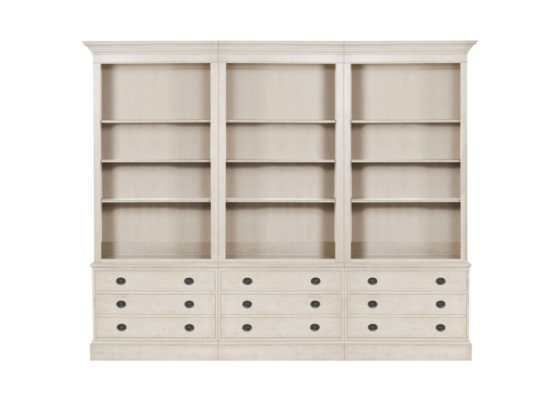 Villa Triple File Bookcase ,  , large_gray