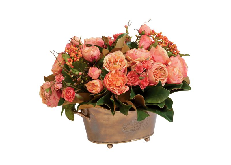 Mixed Rose Berry Centerpiece ,  , large_gray
