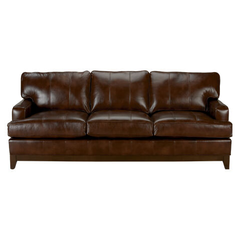 arcata leather sofa quick ship