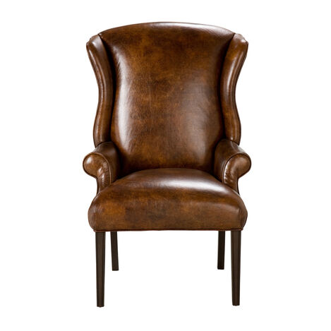Jayden Leather Host Chair ,  , large