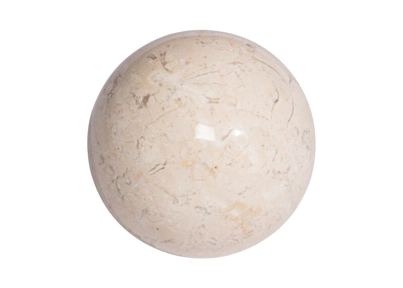 White stone ball decorative objects