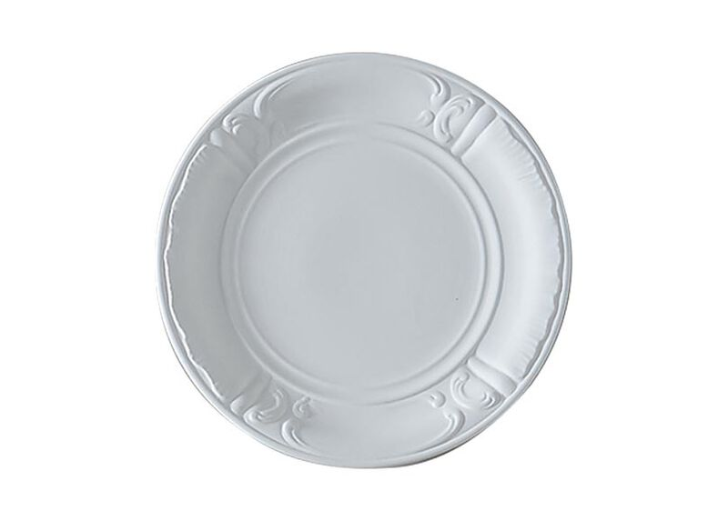 White Deco Wall Plate ,  , large_gray