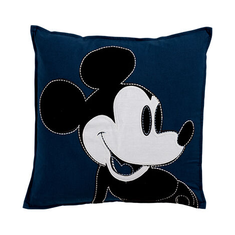 Color Block Mickey Pillow, Midnight ,  , large