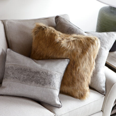 Tipped Fox Faux Fur Pillow ,  , hover_image
