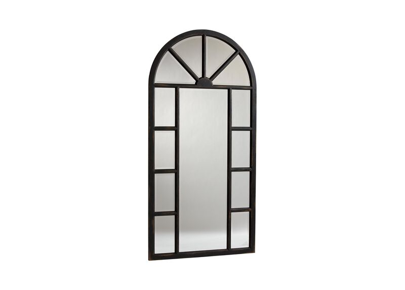 Antique Black Cypress Floor Mirror ,  , large_gray