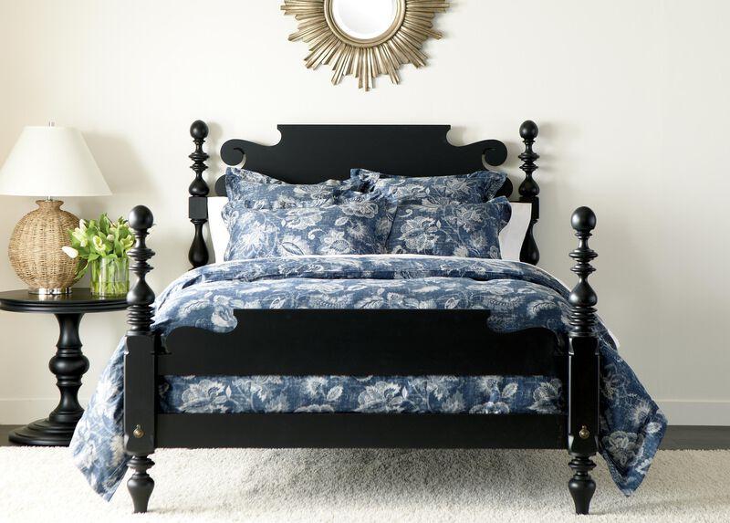 Monikka Blue Floral Duvet Cover and Shams ,  , large_gray