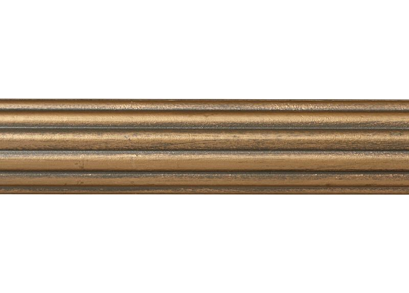 """1 3/8"""" Fluted Wood Pole, Rose Gold ,  , large_gray"""