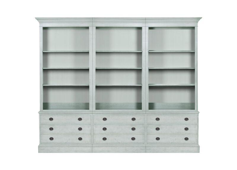 Villa Triple File Bookcase ,  , large_gray