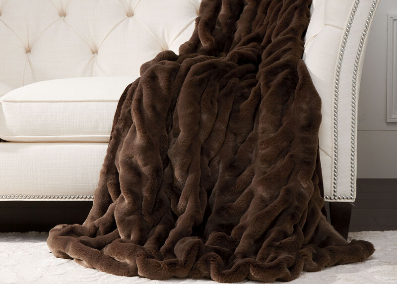 Faux Fur Mink Throw ,  , large_gray