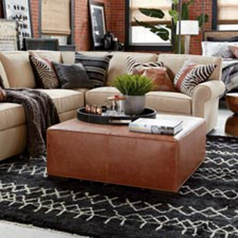 Miles Leather Cocktail Ottomans ,  , hover_image