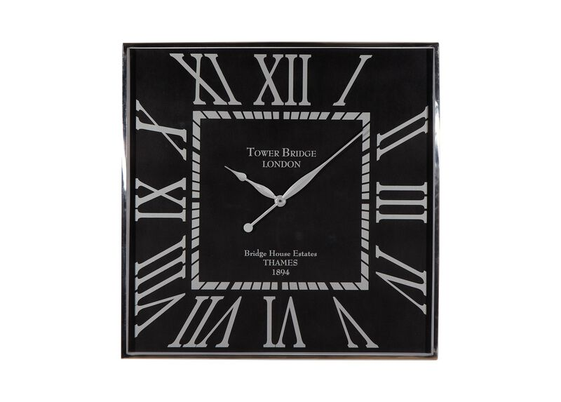 Nickel and Black Wall Clock ,  , large_gray
