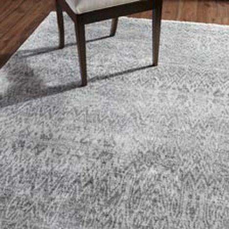 Ikat Rug, Gray/Ivory ,  , hover_image