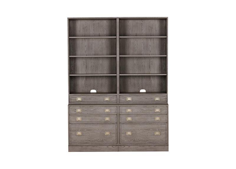 Callum Double File Bookcase ,  , large_gray
